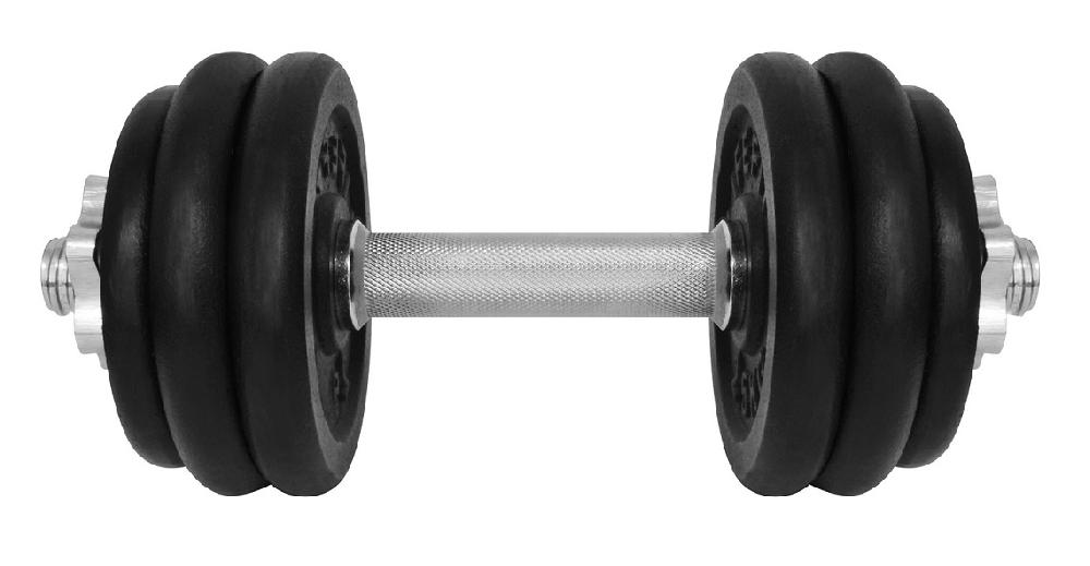 Činka nakládací LIFEFIT jednoruční 15 kg, 30mm tyč/6x kotouč