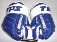 Hokejové rukavice TPS HGS 3 modrobílé celkožené 13