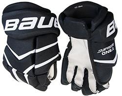 Hokejové rukavice Bauer Supreme One 2 černé látkové 14