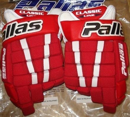 Hokejové rukavice Pallas 105 Pro červené látkové 14