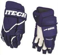 Hokejové rukavice Itech HG 1000 modrobílé nylon/kůže 14