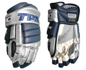Hokejové rukavice TPS Adrenaline modrostříbrné celokožené 13