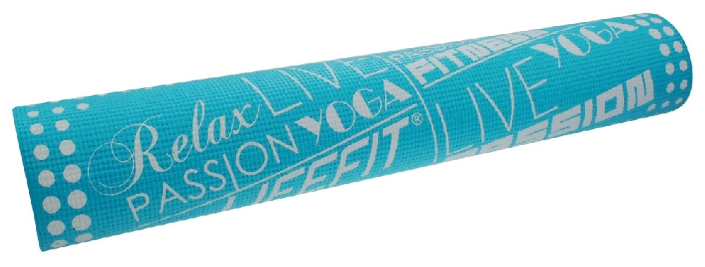 Gymnastická podložka LIFEFIT SLIMFIT, 173x61x0,4cm, světle tyrkysová
