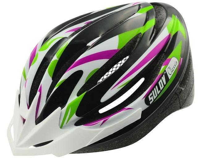 Cyklo přilba SULOV ALESSIA, fialovo-zelená