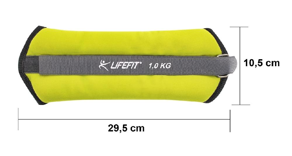 Neoprenová zátěž LIFEFIT ANKLE/WRIST WEIGHTS 2 x 1,0kg