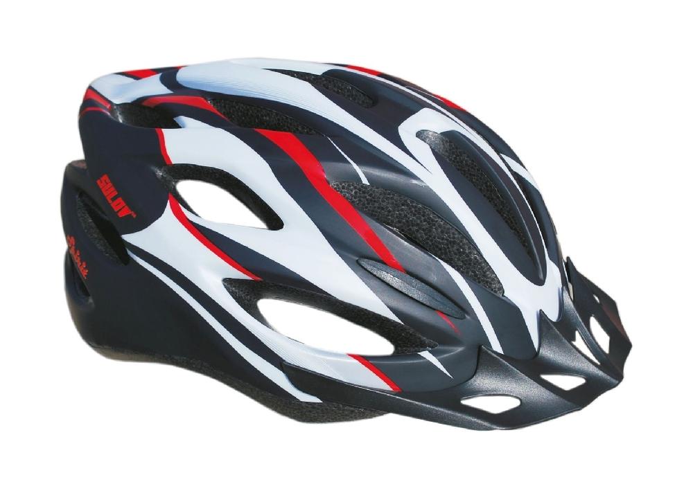 Cyklo helma SULOV SPIRIT, černo-červená polomat