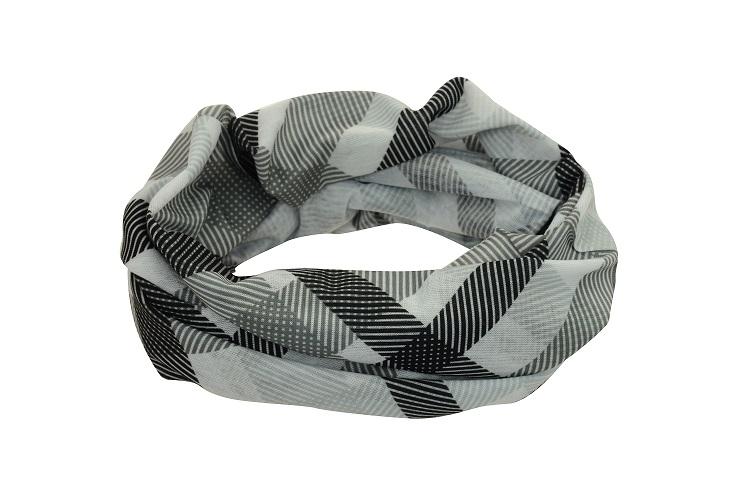 Sportovní šátek, šedo-černý