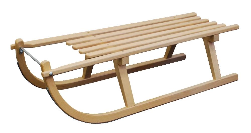 Dřevěné saně SULOV DAVOS, sedák dřevo, 100cm