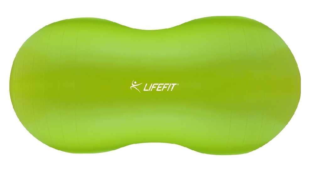 Gymnastický míč LIFEFIT NUTS 90x45 cm, sv. zelený