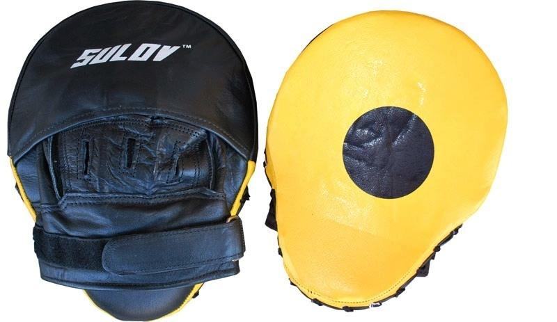 Box lapa prohnutá SULOV kožená, pár, žluto-černá