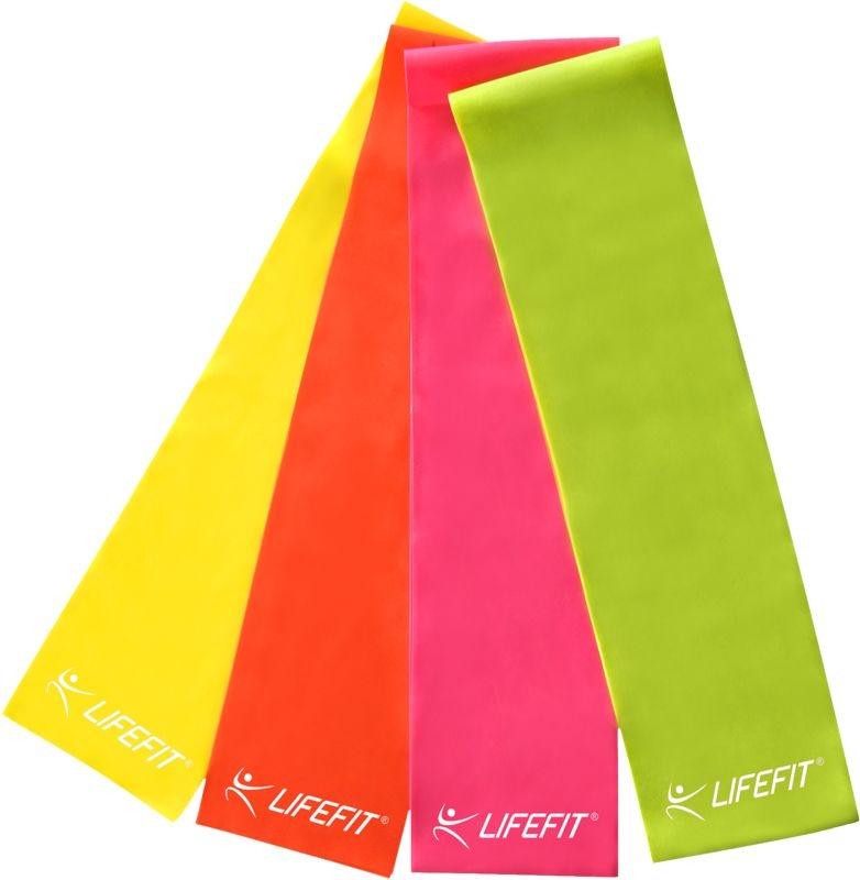 Posilovací guma LIFEFIT FLEXBAND 0,35, růžová
