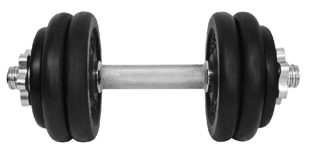 Činka nakládací LIFEFIT jednoruční 14 kg, 30mm tyč/6x kotouč