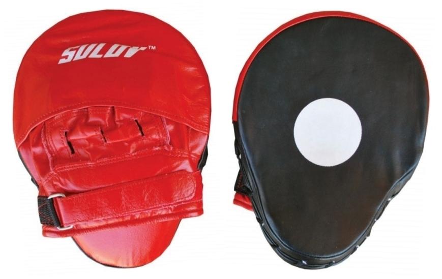 Box lapa prohnutá SULOV kožená, pár, červeno-černá