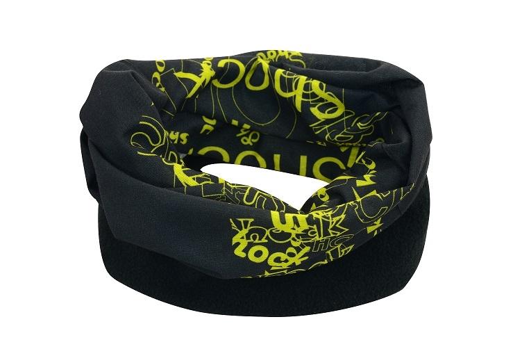 Sportovní šátek s flísem SULOV, černo-zelený