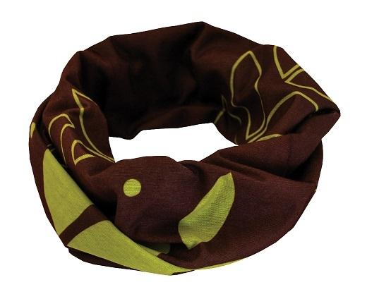 Sportovní šátek SULOV, hnědo-zelený