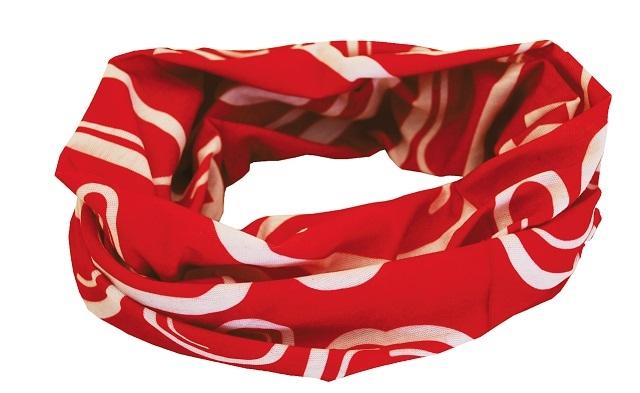 Sportovní šátek SULOV, červeno-bílý