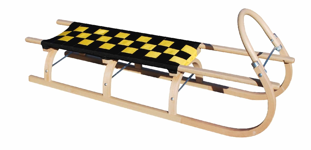 Dřevěné saně SULOV 67, 125cm, černo-žluté