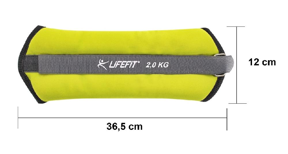 Neoprenová zátěž LIFEFIT ANKLE/WRIST WEIGHTS 2 x 2,0kg