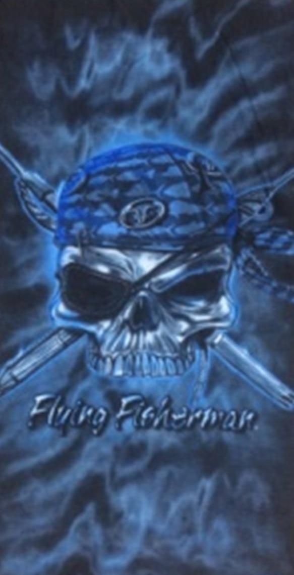 Sportovní šátek s flísem, černo-modrý