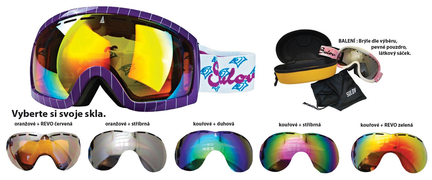 Lyžař.brýle SULOV senior fialo