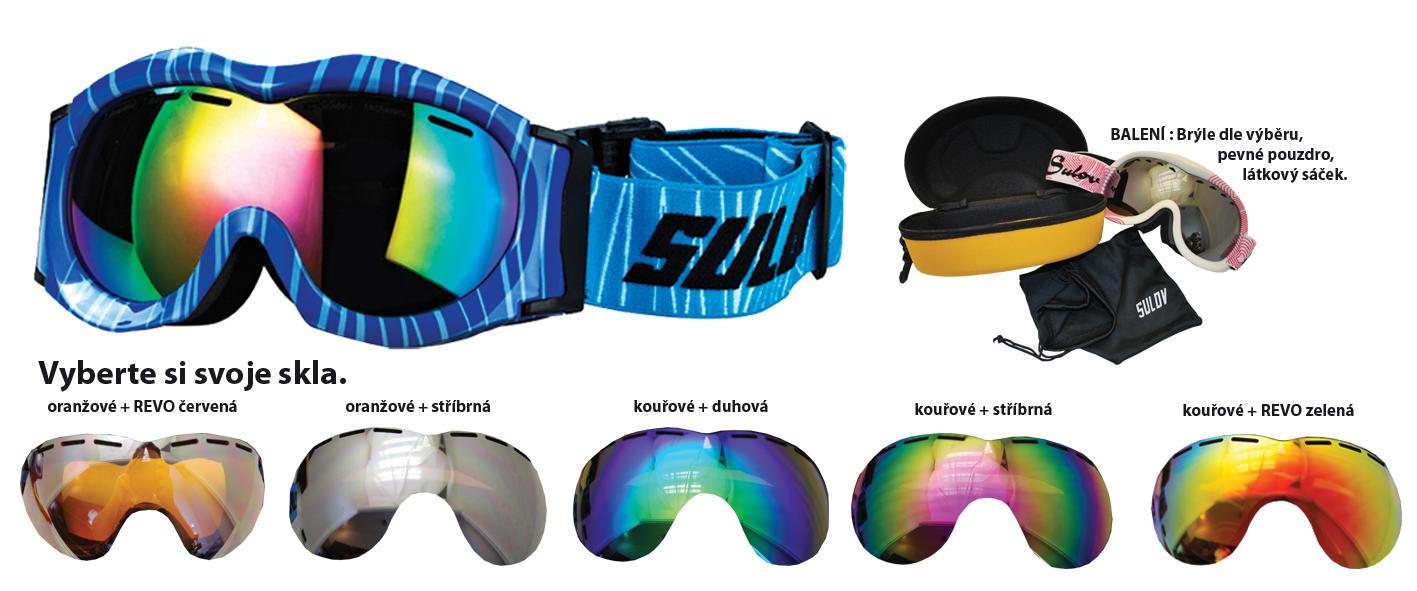 Lyžař.brýle SULOV dětské modré
