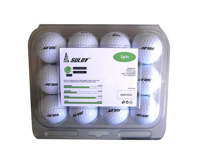 Sada golf.míčů SPIN-plast