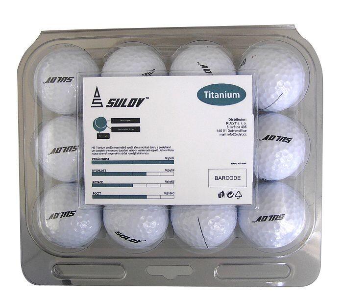 Sada golf.míčů TITANIUM-plast