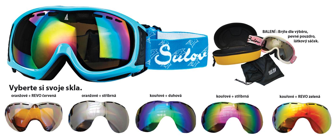 Lyžař.brýle SULOV senior modré